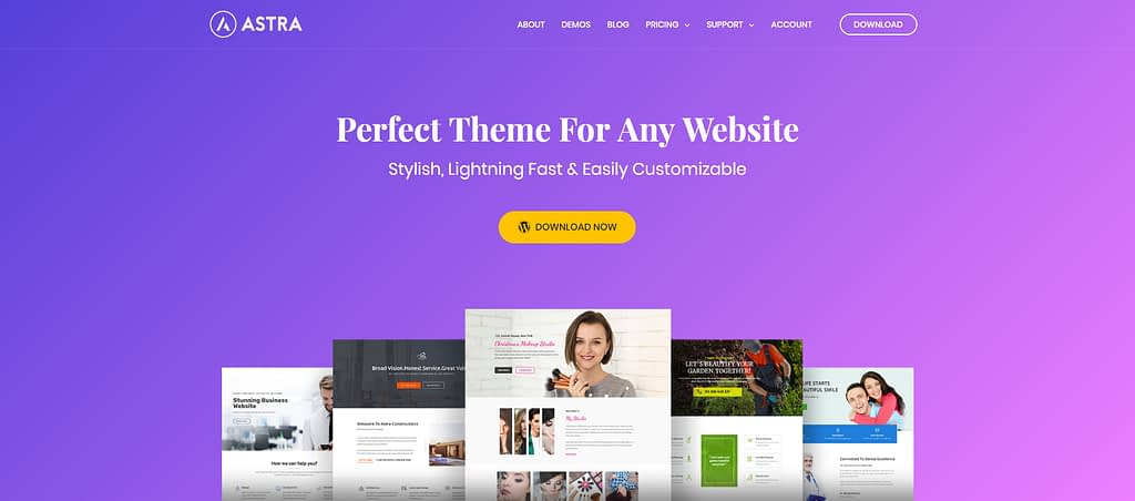 start a blog with Astra theme