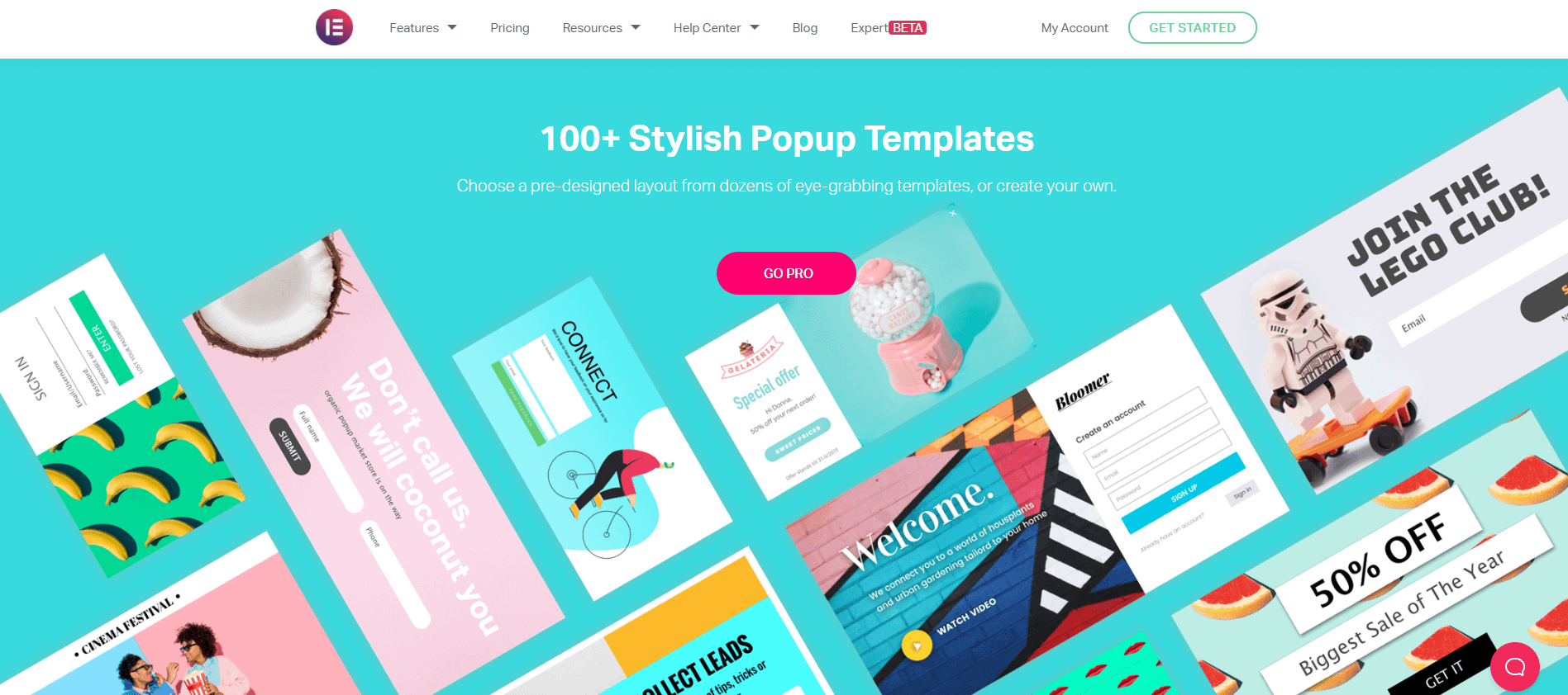 Popup templates to grow email list