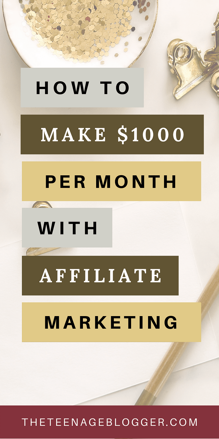 Make $1000 with affiliate marketing