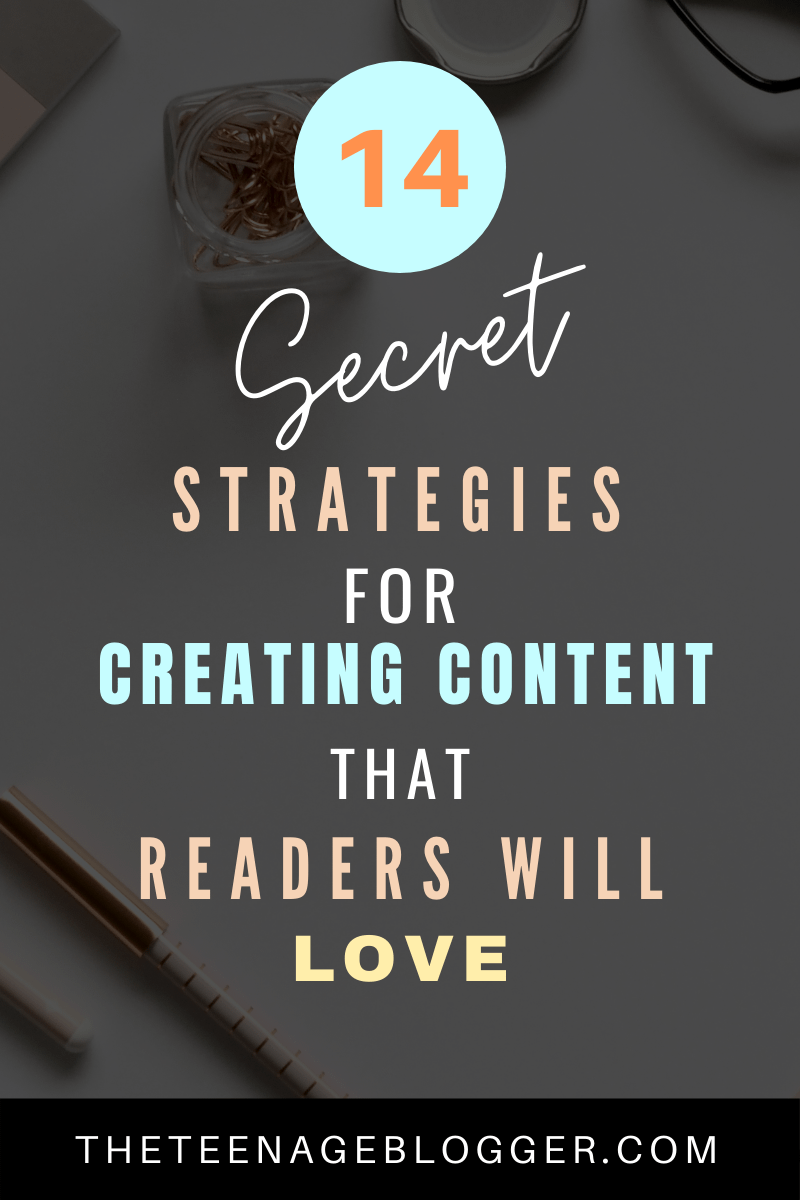 Secret strategies for creating content