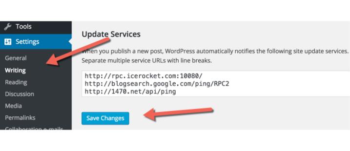 WordPress Ping List Tasks