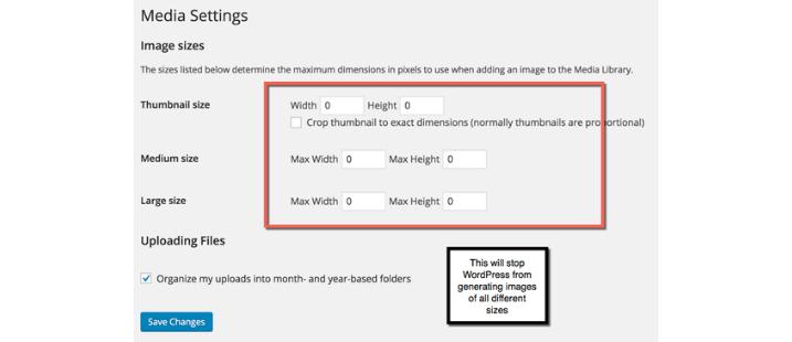 WordPress Media Settings Tasks