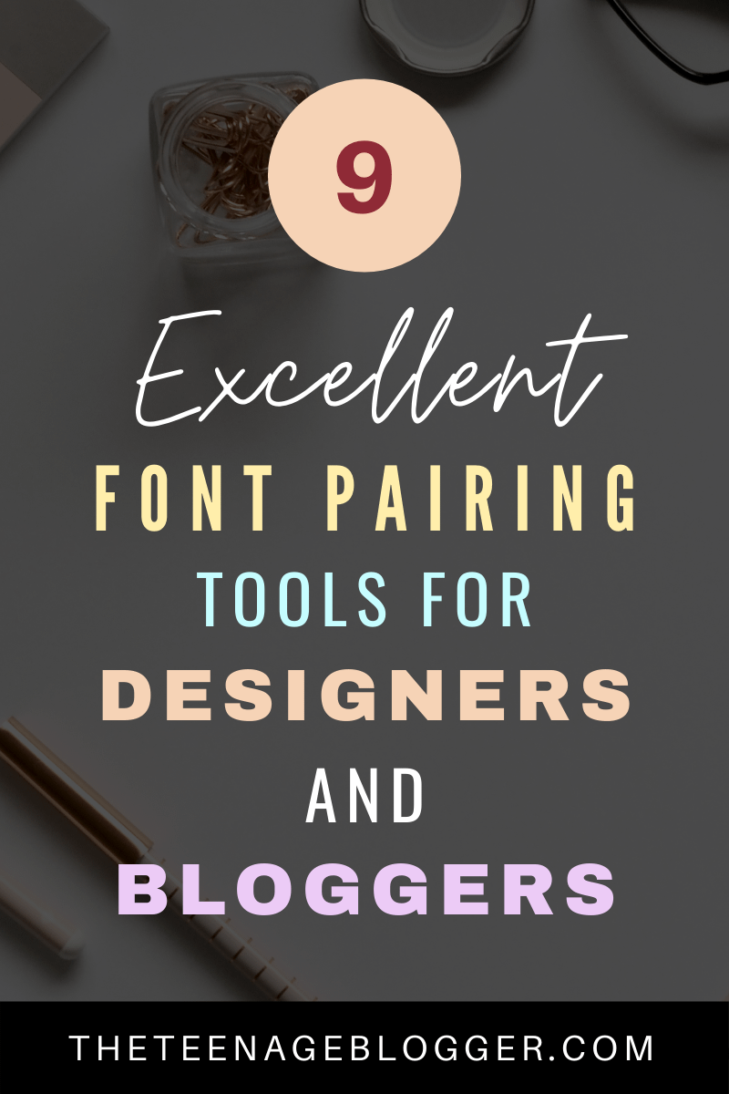 9 excellent font pairing tools