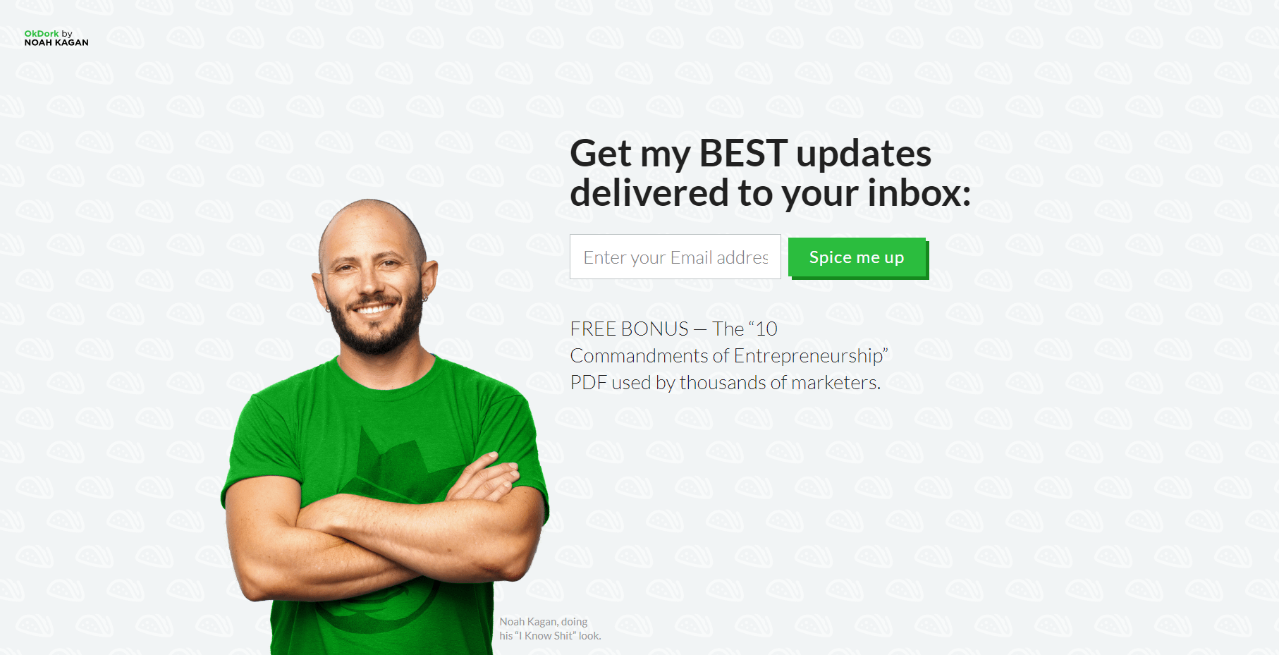 signup form on homepage to grow your email list